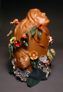Sculpture Ceramics Originals - In my fathers garden  by Vilis