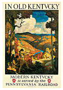 N.C. Wyeth Posters - In Old Kentucky Pennsylvania Railroad Poster by N C Wyeth