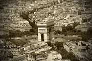 Paris In Sepia Framed Prints - In Paris 2 Framed Print by Kamil Swiatek
