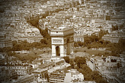 Paris In Sepia Framed Prints - In Paris 3 Framed Print by Kamil Swiatek