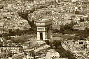 Paris In Sepia Framed Prints - In Paris Framed Print by Kamil Swiatek