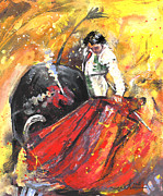 Bullfight Paintings - In Passing by Miki De Goodaboom