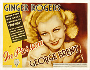 Ginger Rogers Framed Prints - In Person, Ginger Rogers, 1935 Framed Print by Everett
