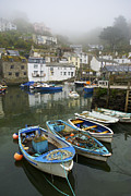 Village Views Prints - In Polperro, A Small Fishing Village Print by Jim Richardson
