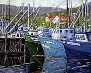 Prankearts Paintings - In Port  by Richard T Pranke