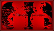 Debt Mixed Media Prints - In RED 16 Trillion Dollar Babies Print by Sherry Gombert