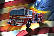Los Angeles Digital Art Metal Prints - In Remembrance FDNY 343 Metal Print by Tommy Anderson