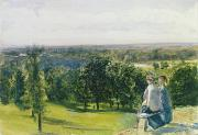 Stately Posters - In Richmond Park Poster by John William Inchbold