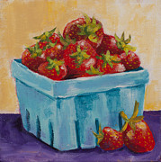 Strawberry Pastels Prints - In Season Print by Pat Olson
