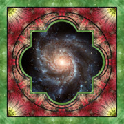 Circle Mandalas Framed Prints - In Sight Framed Print by Bell And Todd