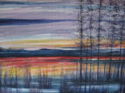 Reflections Of Sky In Water Paintings - In Stillness by N Howell