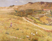 Open Land Prints - In Summertime  Print by Frederick William Jackson