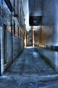 Asphalt Digital Art Posters - In the Alley Poster by Dan Stone