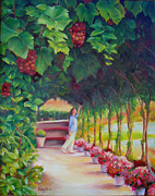Arbor Paintings - In The  Arbor by Lesley Paul