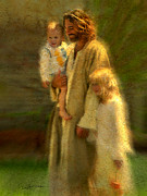 Holding A Boy Posters - In the Arms of His Love Poster by Greg Olsen