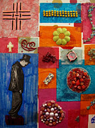 """texas Artist"" Mixed Media Posters - In The Attic Poster by Laurette Escobar"