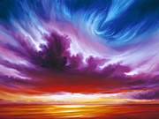 Sunrise Painting Originals - In the Beginning by James Christopher Hill
