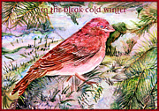 Hymn Posters - In The Bleak Cold Winter Poster by Mindy Newman