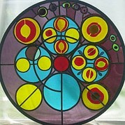 Circle Glass Art Originals - In the circle by Laura Vizbule