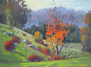 Berkshires Paintings - In The Cow Pasture by Len Stomski