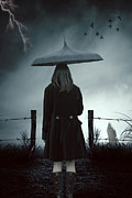Eerie Photo Posters - In The Dark Poster by Joana Kruse