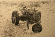 Machinery Drawings Framed Prints - In The Dunes Framed Print by Terry Perham