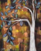 Family Tree Paintings - In the Fall by  Abril Andrade Griffith