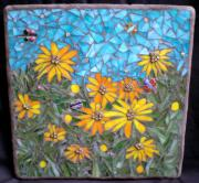 Field Glass Art - In The Field  by Kathleen Stewart