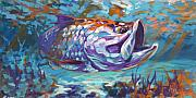 Tarpon Paintings - In The Flats by Mike Savlen
