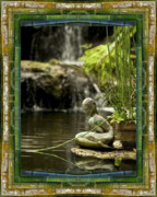 Contemplative Metal Prints - In the Flow Metal Print by Bell And Todd