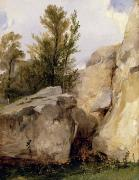 Richard Art - In the Forest of Fontainebleau by Richard Parkes Bonington