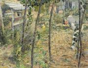 Homes Prints - In the Garden Print by Charles Angrand