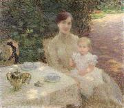 Portraits Paintings - In the Garden by Ernest Joseph Laurent