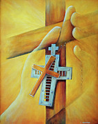 Baptist Paintings - In the Hands by Jost Houk