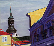 Dome Painting Originals - In the Heart of Tallinn by Alan Mager