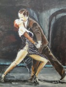 Tango Paintings - In the Heat of the Night by Judy Kay