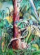 Palms Mixed Media Acrylic Prints - In the Jungle Acrylic Print by Mindy Newman