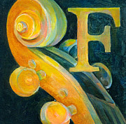 Classical Music Paintings - In The Key of F by Susanne Clark