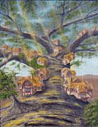 In The Lorn Tree From Arboregal Print by Dumitru Sandru
