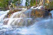 Water Flowing Posters - In The Middle Of Cascade Falls Poster by Marc Crumpler