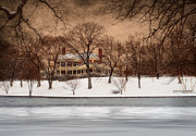 Folk Art Photos - In the Midst of Winter by Robin-lee Vieira