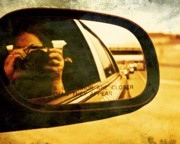 Canon Digital Art Posters - In the mirror Poster by Cathie Tyler