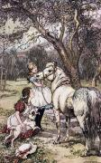 Childrens Literature Prints - In The Orchard.  Illustration By Lucy Print by Ken Welsh