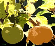 Autumn Prints Mixed Media Posters - In The Orchard Poster by Patrick J Murphy