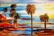 Beach Sunsets Originals - In the Palms by Jane Williams Clayton