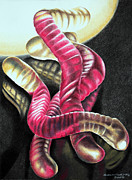 Surrealism Pastels - In the Right Light by Alan Rutherford