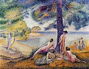 Theory Metal Prints - In the Shade Metal Print by Henri-Edmond Cross