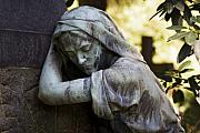 Cemeteries Photos - In The Shadows by Marc Huebner