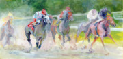 Blinkers Paintings - In The Slop by Kimberly Santini