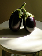 Eggplant Framed Prints - In the Spotlight Framed Print by Christine Belt